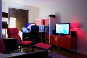 pokój z oświetleniem LED